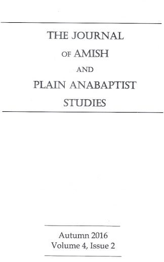 Journal of Amish and Plain Anabaptist Studies (JAPAS)  Vol. 4,  Issue 2