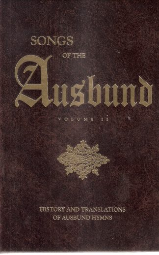 Songs of the Ausbund Volume 2
