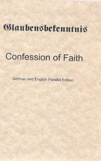Confession of Faith G/E Parallel
