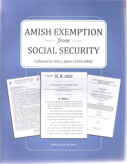 Amish Exemption from Social Security